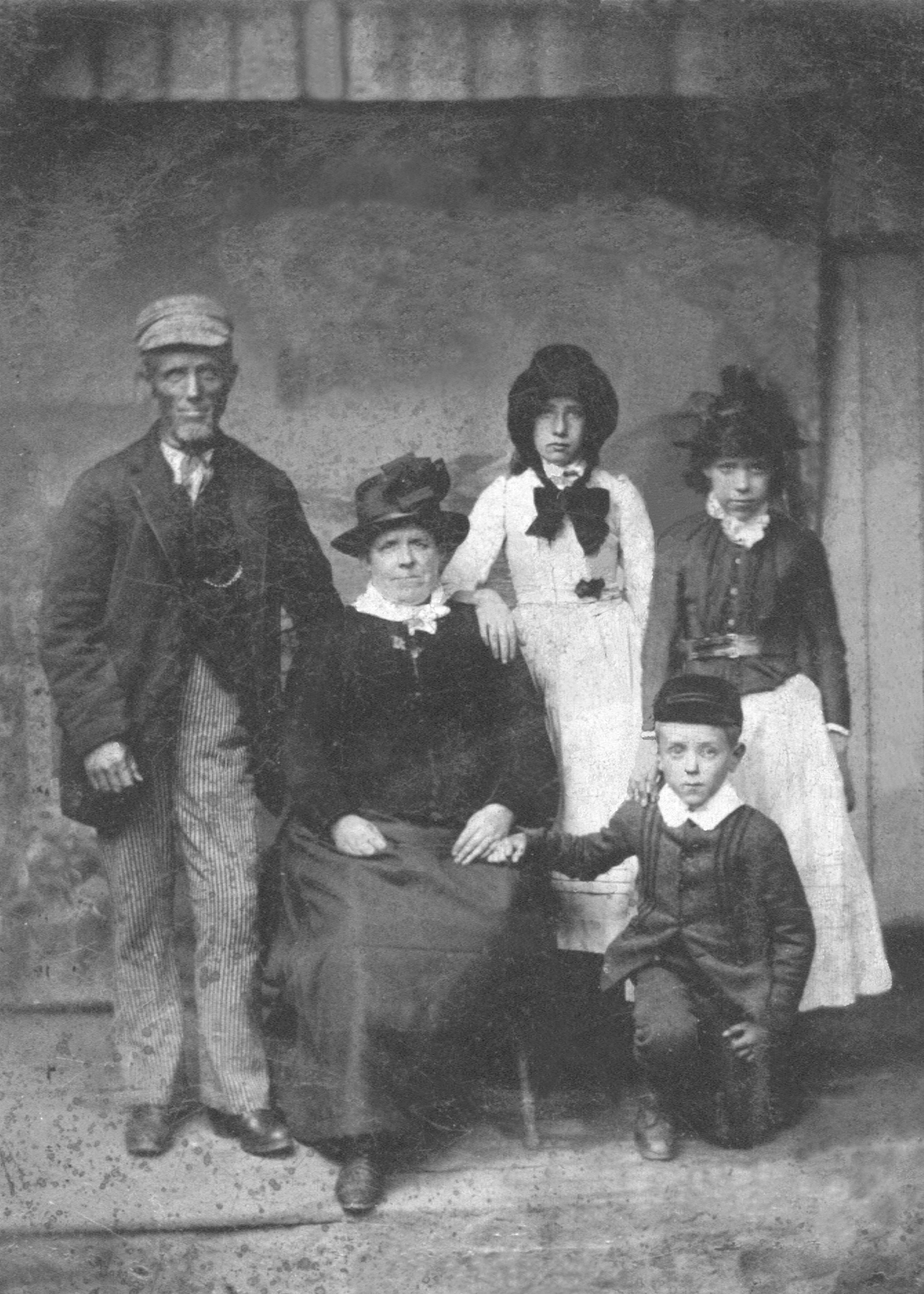 Robert and Mary Benyon, with 3 of their children?